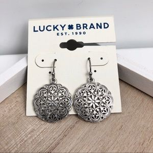 Lucky Brand openwork drop earring - new